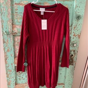 NWT SOFT SURROUNDINGS SWEATER DRESS SZ.  MED.